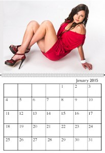Sample calendar page photo: Quinny, Ms. January